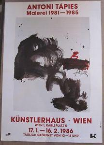 Antoni Tapies, Malerei 1981-1985 Künstlerhaus Wien 1986 | eBay Books, Ebay, Art, Poster, Painting Art, Livros, Livres, Kunst, Book