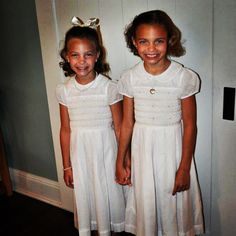 Loved getting this picture from the Graham sisters. They dresses in our Ivory Blair dresses to Church ! Aren't they beautiful girls !
