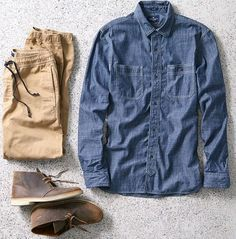 AEO Denim Workwear Shirt at American Eagle Outfitters - Trendslove