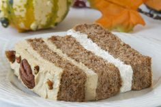 Pecan Latte Gateau Low-Carb Dessert Recipe by Tracey Rollison from CarbSmart Low-Carb & Gluten-Free Holiday & Entertaining Cookbook