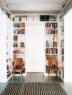 matching chairs and built-in bookcase over doorway / sfgirlbybay
