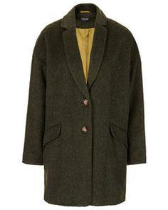 Topshop Angora Boyfriend Coat