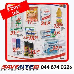 Only 2 days left to cash in on this weeks fantastic special offers at Saverite Supermarket York Street. Who has already been and bought any of these specials yet? Let us know what you bought on this week list. #specials #supermarket #groceries