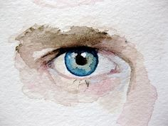 Custom Eye Portrait-Original Watercolor Painting