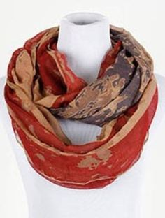 new STARS AND STRIPES washed Look Red Blue & White FLAG  INFINITY SCARF #unbranded #Scarf