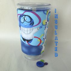 Inside Out Sadness coffee sleeve Disney drink by DeegeeMarieGifts