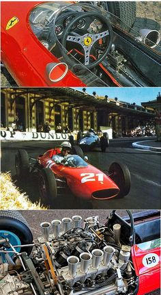 1963 Monaco GP - Surtees - Ferrari 158 F1. John Surtees in his Ferrari 158 leading Graham Hill's BRM at the 1963 Monaco Grand Prix. Surtees (UK) and the Ferrari 158 went on to claim the 1964 World Championship of Drivers and the International Cup for F1 Manufacturers. #ScuderiaFerrari #RedSeason
