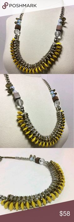 Anthropologie Pam Hiran Statement Necklace In great condition.  Purchased new. Wore only a few times. Anthropologie Jewelry Necklaces