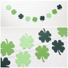 4 Leaf Clover Garland - 4.75 inch tall Clover - St Patricks Day Shamrock Shamrock Garland St Patricks Day Banner Banner St Patty Decoration by FreshLemonBlossoms on Etsy https://www.etsy.com/listing/219627219/4-leaf-clover-garland-475-inch-tall