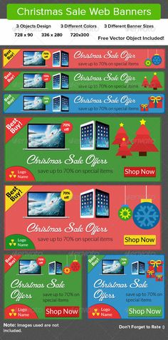 Christmas Sale Web Banners Template PSD | Buy and Download: http://graphicriver.net/item/christmas-sale-web-banners/6221302?WT.ac=category_thumb&WT.z_author=ikkeaviy&ref=ksioks
