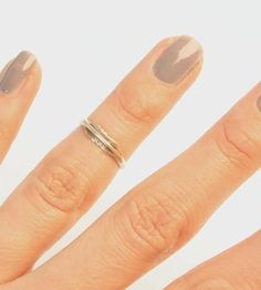 feather knuckle ring | sterling silver
