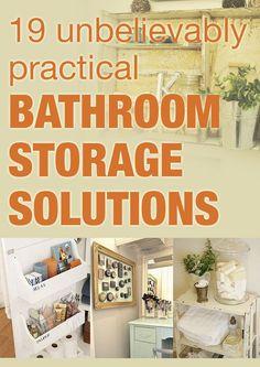 19 bathroom storage solutions