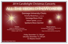 It's our holiday tradition - the GU Concert Choir Candlelight Christmas Concerts!