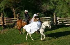 A bride riding to her wedding in style
