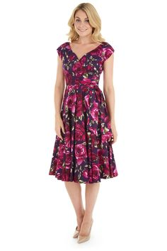 Sorrento Hourglass Swing Berry Dress - view 3