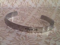 Always Harry Potter Hand Stamped Bracelet Cuff. $8,00, via Etsy.