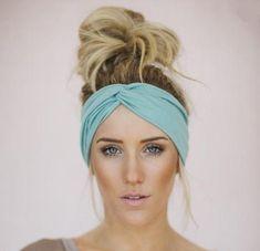 Hair Jewelry Acessories Solid Twist Boho Headband-Hair Accessories-Moonlight Gypsy - Bohemian solid twist headband in yellow. Shop Boho headbands and hair accessories for the modern gypsy. Thick Headbands, Turban Headbands, Headbands For Women, Cute Headbands, Braided Headbands, Sewing Headbands, Bobby Pin Hairstyles, Headband Hairstyles, Girl Hairstyles