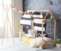 Incredible Forts to Build: DIY toddler house bed frame Toddler House Bed, Toddler Bed Frame, Diy Toddler Bed, Toddler Rooms, Girl Toddler, House Frame Bed, Diy Bed Frame, House Beds, Toddler Bed Transition