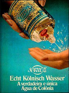 Vintage Advertisements, Vintage Ads, Coachella, 4711 Cologne, Beauty Ad, Vintage Perfume Bottles, Glass Ceramic, My Memory, Vintage Beauty