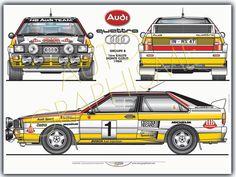 Audi Quattro Groupe B Monte Carlo Audi Sport, Sport Cars, Race Cars, Audi Quattro, Rallye Wrc, Automobile, Racing Car Design, Classic Cars British, Car Drawings
