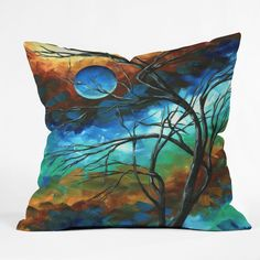 Madart Inc. Mystery Of The Moon Throw Pillow | DENY Designs Home Accessories