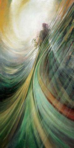 Freydoon Rassouli's Art Gallery Greeting The Dawn Buy Fusionart Paintings Oil On Canvas Artwork For Sale Encino, CA NoBullART Art Gallery Free Online Art Gallery and Artist Community Fantasy Kunst, Fantasy Art, Art Prophétique, Spiritual Paintings, Prophetic Art, Angel Pictures, Ouvrages D'art, Angel Art, Christian Art