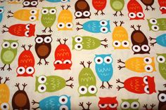 This is sooo cute :)    Bermuda Owls Fabric  by Ann Kelle from Urban Zoologie for Robert Kaufman- 1 yard. $9.25, via Etsy.