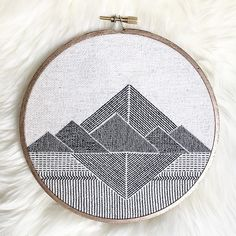 "Stephanie Lapre on Instagram: ""Finished! After four days of stitching the tiniest stitches. The texture of the triangles alternates between ..."