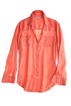 Jo Silk Top in Coral. The perfect travel blouse to be worn several different ways. I'll be pairing this as is with white jeans, and also wearing it open over a tank and shorts