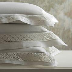 World Of Interiors, Bath Linens, Fine Linens, Luxury Bedding, Linen Bedding, Home Accessories, Decorative Pillows, Bed Pillows, Bedroom Decor