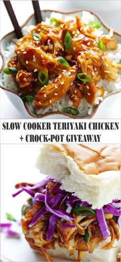 Quick Recipes For Dinner: Slow Cooker Teriyaki Chicken New Recipes, Crockpot Recipes, Chicken Recipes, Dinner Recipes, Cooking Recipes, Healthy Recipes, Easy Recipes, Brunch Recipes, Breakfast Recipes