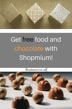 Get free food and chocolate with Shopmium! #food #freefood #chocolate #save #shopping #shop