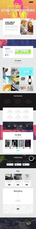 Unique Web Themes for Creatives #DESIGN