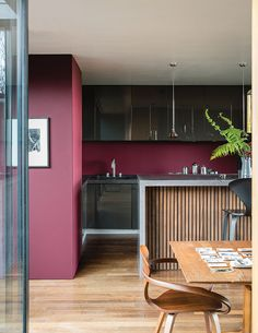British paint manufacturer Farrow & Ball has expanded its extensive color card with nine new shades. Carefully chosen to balance Farrow & Ball'. Farrow Ball, Farrow And Ball Paint, Top Paint Colors, Red Paint, Wall Colours, Red Color Schemes, Color Trends, Glossy Kitchen, Red Kitchen