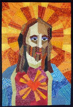 Sacred Heart of Jesus art quilt by JPGstudio2536 on Etsy, $195.00