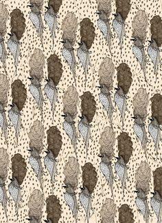 Saved by Kendra Dandy (bouffantsandbrokenhearts). Discover more of the best Bouffants, Broken, Hearts, Illustration, and Design inspiration on Designspiration Bird Patterns, Textile Patterns, Textile Prints, Vintage Patterns, Color Patterns, Print Patterns, Surface Pattern Design, Pattern Art, Pattern Paper