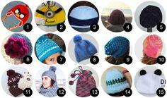 15 gorros  crochet, pineado por www.estrellasdeweb.blogspot.com