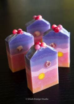 Berry Mimosa Handmade Cold Process Aloe Silk Soap