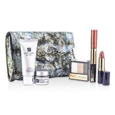 Estee Lauder Travel Set Re-Nutriv Travel Set: Cleanser 30ml + Creme 7ml + 3-Colors EyeShadow + Lipstick #41 + Lip Gloss #25 & Mascara + Bag