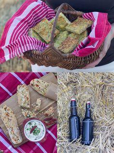 Feta Chili Dip und Zucchinibrot - Ideen für ein Sommerpicknick