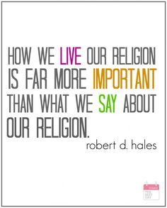 how we live our religion