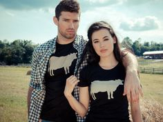 Wear your love of animals with John Bartlett x Farm Sanctuary's cow, pig, and chicken T-shirts.