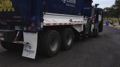 New GARBAGE TRUCK, New Neighborhood - RECYCLE SIDE LOADER- UP Close! #garbagetrucksrule