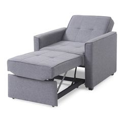 If your guest room blends in with your living room, the Gold Sparrow Chandler Gray Convertible Arm Chair Bed is the perfect addition for your space. Beds For Small Spaces, Furniture For Small Spaces, Convertible Furniture, House Beds, Diy Chair, Sofa Furniture, Furniture Dolly, Cheap Furniture, Tiny House Furniture