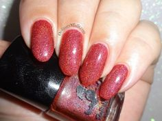 Dollish Polish - Rollin' with the homies China Glaze, Swatch, Finger, Nail Polish, Nail Art, Nails, Red, Finger Nails, Ongles