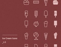 Ice Cream Icons ( Vector; Free Download)