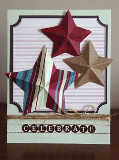How to make paper 3D stars