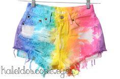 Colorful RAINBOW Tie Dyed LEVIS 501 Denim by KaleidoscopeEyesVtg, $70.00