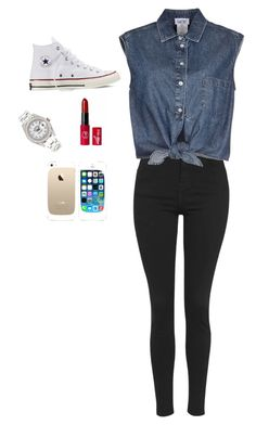 """Casual"" by bluedawgs on Polyvore featuring Topshop, Jean-Paul Gaultier, Converse, Rolex and FingerPrint Jewellry"