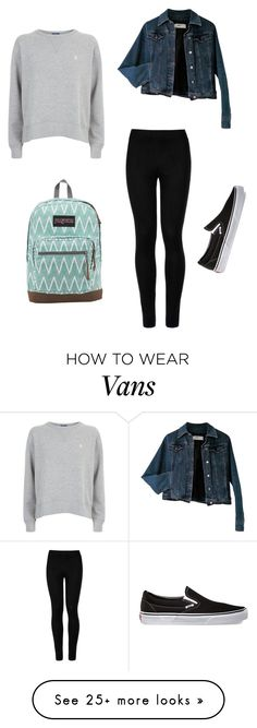 """""""Untitled"""" by dancer0202 on Polyvore featuring Wolford, Polo Ralph Lauren, Moschino, Vans and JanSport"""